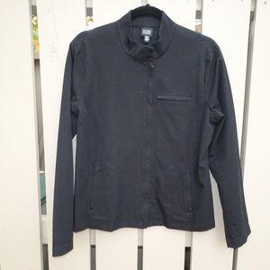 Eileen Fisher Black Short Jacket Nehru Collar | M